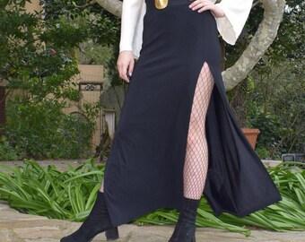 Elvira High Slit Skirt