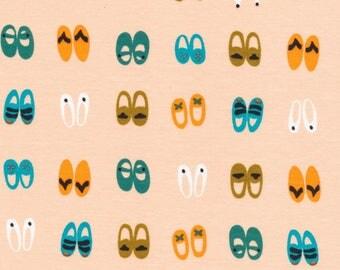 Shoe KNIT, Fancy Feet on Pinkby Cloud 9 Fabrics, Sidewalk knit, modern knit, organic fabric, shoe knit, knit fabric apparel fabric