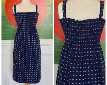 Vintage smocked 70's Sun dress