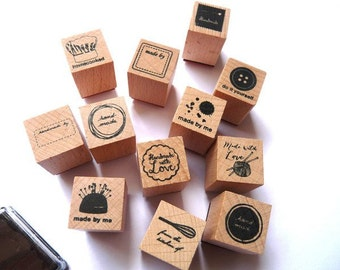 Stempelset Stempel Handmade Made by