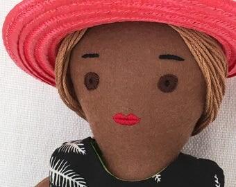 One-of-a-kind handmade cloth doll: Operetta