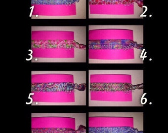 Lilly Inspired Elastic Hair Ties
