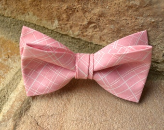pink plaid bow tie for boys,plaid bow tie for boys,pink plaid bow ties