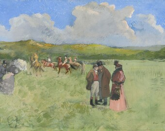 "Jean-Louis Forain : ""The Race Track"" (c. 1891) - Giclee Fine Art Print"