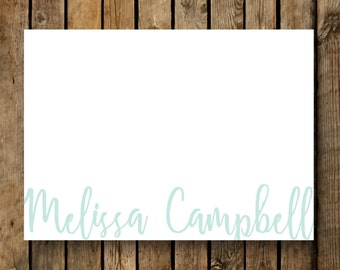 Personalized Flat Note cards / Stationery / Pastel Script