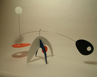 Modern Art Stabile Sculpture Mobile Table Top Kinetic Decor Animo large Calder Style Influence