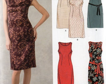 New Look Pattern 6062 EASY SHEATH DRESSES Misses Sizes 10 12 14 16 18 20 22
