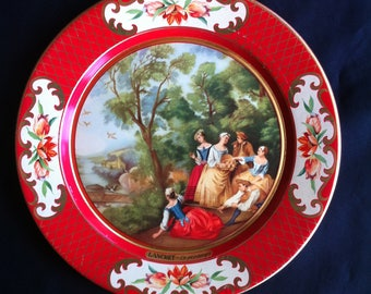 Four Tin Decorative Plates Made In Belgium Daher Decorated Ware - DECOR ONLY