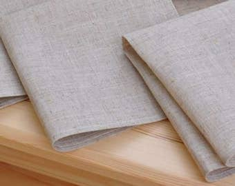 Linen Beige Sand Lunch Napkins, Perfect for Weddings
