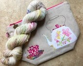 Tea Time | Project Bag and Sock Yarn Set | Made to Order