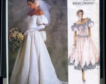 Vogue 1980's Bridal Original Pattern size 10