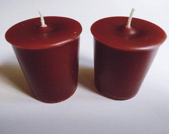 Orchard Votive Candles   Hand Poured & Highly Scented   Set of 2   Handmade Apple Scent