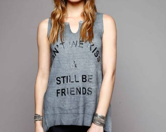 Gray Printed Top  FRIENDS