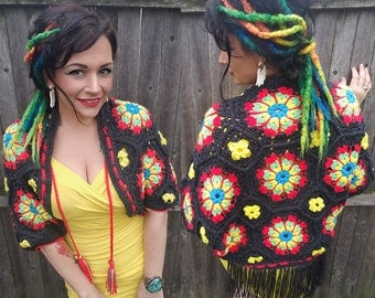 Crochet Granny Cocoon Cardigan Pattern - Kaleidoscope