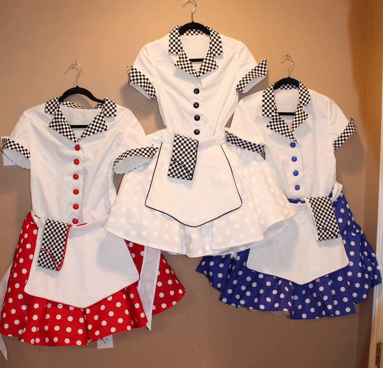 Roller skates for plus size - 50 S Car Hop Poodle Skirt Fifties Retro Roller Skate Waitress Drive In Girl Polka Dots 1950 S Envelope Hat Plus Size Costume