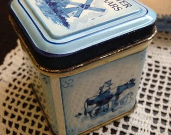 Small Vintage Dutch Candy Tin From Middleburg, Holland