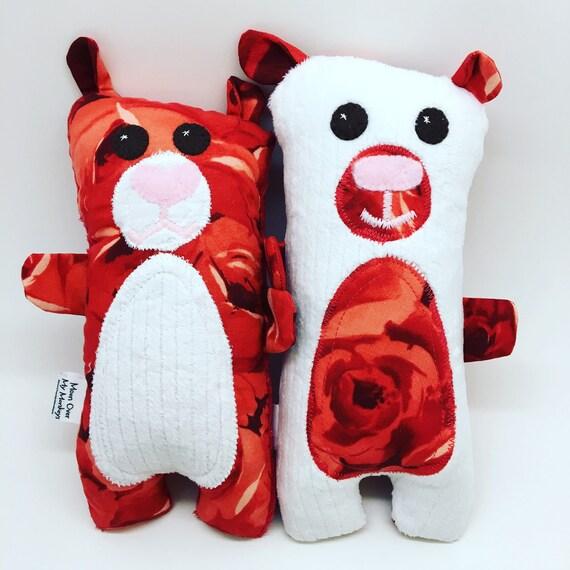 Custom Order Twins, Siblings, Best Friends Handmade Bear Softie Set