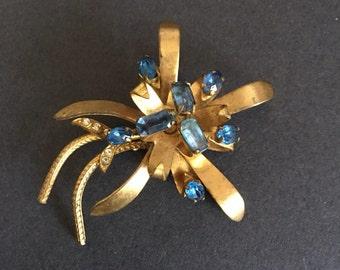 Vintage Floral Bouquet Brooch Pin
