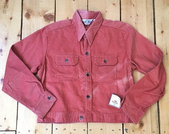 Vintage 1970s 80s Deadstock Levis Panatela Sportswear Rust Corduroy Jacket - New With Tags - Medium