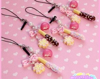 Japanese sweets keychain phone strap cute and kawaii