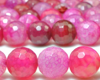 27 pcs of Rainbow Agate faceted round beads in 14mm