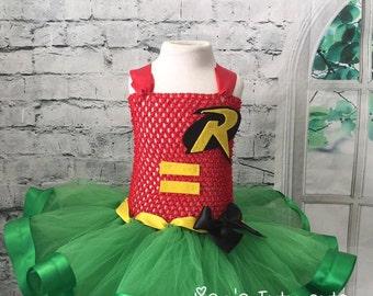 Robin tutu, Robin costume, Robin dress, Robin tutu dress, Robin comic con, Batman tutu, Batman costume, Batman dress, Batman tutu dress