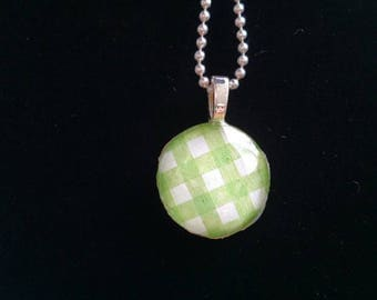 Checkered Green Pendant