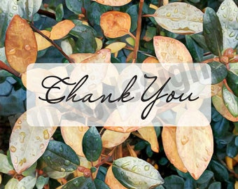 Thank you Rhododendron Note Card