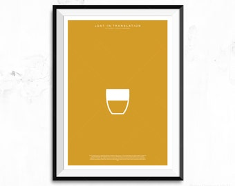 Lost in Translation Movie Poster Print - Suntory Whisky Glass