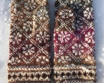 Fair Isle mittens Winter mittens Women's mittens Latvian mittens Fair Isle Wool mittens Ready to ship