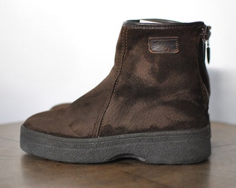 Vintage HUSH PUPPIES LAMBSKIN ankle boots ........(086)
