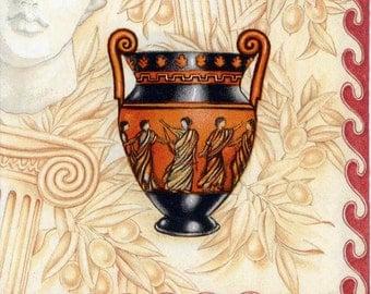 4 Decoupage Napkins   Classical Greek Vases   Art Napkins   Ancient Greece   Classical Napkins   Greek Napkins   Paper Napkins for Decoupage