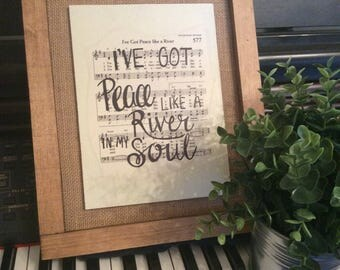 Peace Like a River | Hand Painted Sign | hymn