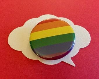 gay pride pinback | rainbow flag button