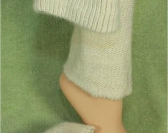Alpaca Leg Warmers in White