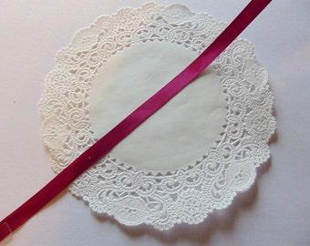Vintage Satin Ribbon Magenta 100 Yards Full Spool NOS Craft Ribbon Craft Supplies Magenta Trim