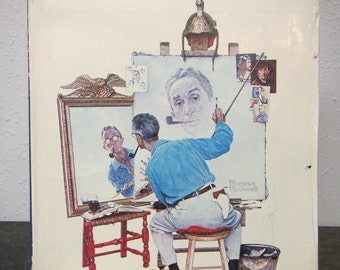 1970 Norman Rockwell Artist and Illustrator ** Large Book ** Coffee Table Book, Covers his work 1910s thru 1960s
