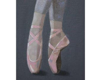 "Oil Painting ''Ballet Dance"" Fine Art Oil on Canvas, Home Decor 13x18cm"