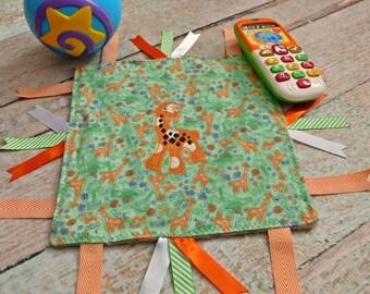 Sensory Blanket - Sensory Toy - Activity Blanket - Calm Blanket - Minky Blanket - Ribbon Blanket - Baby Comforter - Baby Lovey