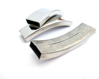 Stainless Steel Tube Connector_ MP645530651/BG/223AD_ Connectors/Embellishing of 40x11 mm/ hole 10x3 mm_ pack 3 pcs