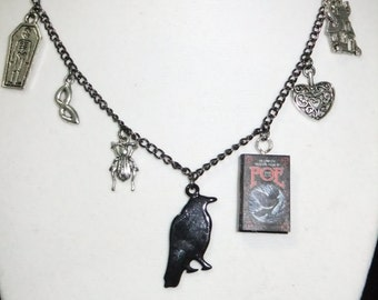 Poe Book Necklace - Version 2 - Great Gift for Book Lovers!