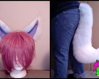 White-Tipped Fox Ears & Tail Set