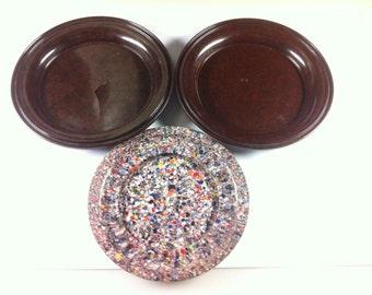 3 Small Bakerlite Side Plates