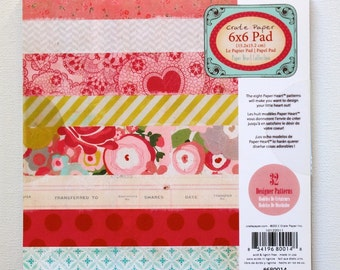 CLEARANCE!  Crate Paper Paper Heart 6x6 Paper Pad