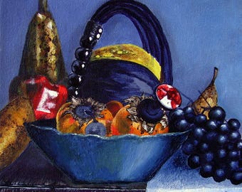 Still life Painting, fruit painting Ready to Hang Art by Susie Tiborcz