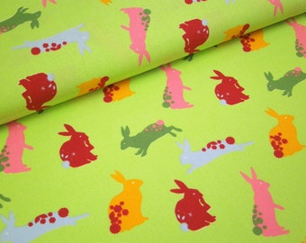 "0,5 m Printed cotton fabric  ""Wales"" hare Westfalen 150 cm w,"