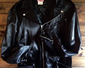 Iconic Punk Jacket Satin