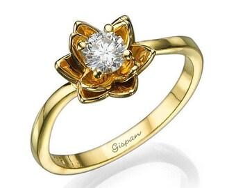 Ring Floral Ring Diamond Ring Wedding Ring Promise Ring Flower Band