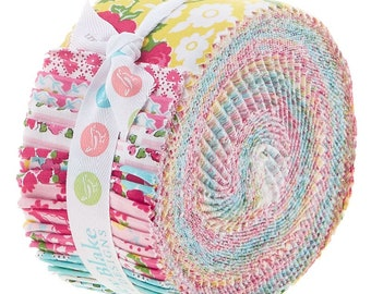 """Last one! Riley Blake Dainty Darling by Lindsay Wilkes Rolie Polie 2.5"""" Fabric Quilting Strips Jelly Roll 40 count RP-5850-40"""