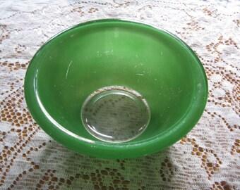 Green Bowl Clear Bottom Pyrex  322 Two Toned Green Pyrex Bowl 1L ,houseware, vintage pyrex bowl, home decor
